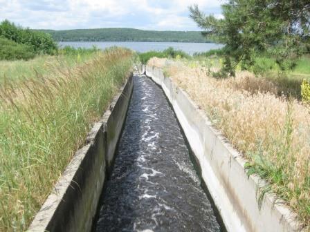путь грязной воды к водохранилищу